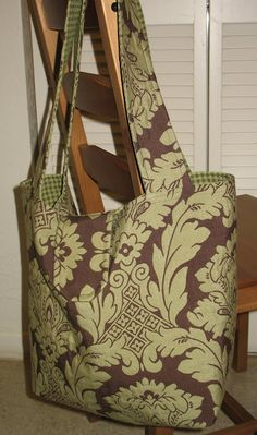 Homemade diaper bag.  Link for instructions attached:  http://www.sew-much-ado.com/2008/12/free-diaper-bag-tutorial.html