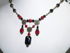 victorian chic jewelry | Vintage Style Victorian Jewelry - Edwardian Jewelry Necklace - Black ...