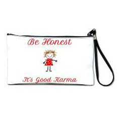 Neo Girl Be Honest Clutch Bag > New Section > Neo Girl www.cafepress.com.au/neogirl