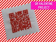 Easily make your own QR code and translate it into up to 250 characters of text, so it makes a perfect little secret code. Since its all based on pixels, it actually makes a great little Valentine cross stitch project that you'll be able to scan with a QR reader to decipher.    http://bklynbrideonline.com/20123/diy-projects/qr-code-valentine-diy/