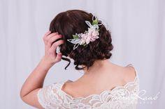 Haarschmuck & Kopfputz - Braut Haargesteck, Haarschmuck Blumen,Spitze 12D - ein Designerstück von Perle-Wismer bei DaWanda