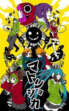 Vocaloid Megurine Luka, Kamui Gakupo, Kaito, Meiko, Kagamine Rin, Kagamine Len, Hatsune Miku, GUMI