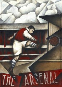 Arsenal FC - Memories Of Highbury Limited edition Print by Paine Proffitt Arsenal Gifts, Arsenal Fc, Arsenal Football Shirt, Football Shirts, North London, Club, Limited Edition Prints, American Artists, Good Old
