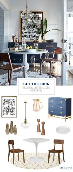 Get the Look: Traditional Meets Eclectic Dining Room — Mix & Match Design Company Boho Dining Room, Eclectic Living Room, Anthropologie Dining Room, Dining Room Floor, Dining Room Glam, Mid Century Modern Dining Room, Dining Room Industrial, Mid Century Dining Room, Eclectic Dining Room