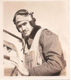 P51-Mustang Pilot 2nd Lt. Robert C. Burns of Louisville, Ky.,  A member of the 318th Fighter Squadron during WW II, 1945