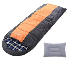 Aircee 20 Degree F Flannel Liner 4 Season Cold Weather Traveling Camping Hooded Sleeping Bag With Pillow (Orange) Aircee http://www.amazon.com/dp/B015ODSDCE/ref=cm_sw_r_pi_dp_tnSQwb03A03HG