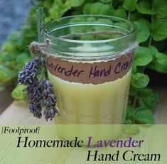 Homemade Lavender Hand Cream. Helps keep skin from chapping and stay soft during the winter months.