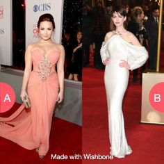 Which dress is fancier? Click here to vote @ http://getwishboneapp.com/share/13499770y