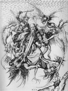 'The Temptation of St. Anthony' (1470s)  Martin Schongaue