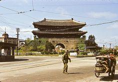 Namdaemun (Great South Gate), Seoul. Photo by Dewey McLean, 1951-53.