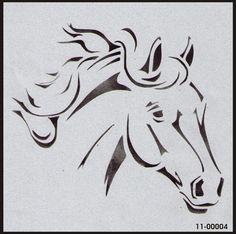 11-00004 Horse Head Horses Stencil, Animal Stencils, 11-00004 - iStencils.com