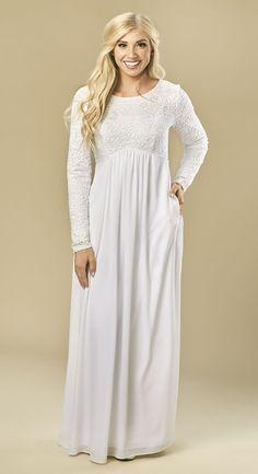 fb25a09da0b71 London-LDS-Temple-dress  109 White Elegance Lds Temple Clothing