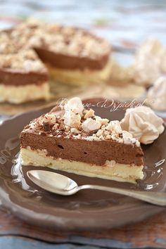 Tort lodowy z bezami Polish Recipes, Polish Food, Tiramisu, Eat, Ethnic Recipes, Desserts, Cakes, Deserts, Kuchen