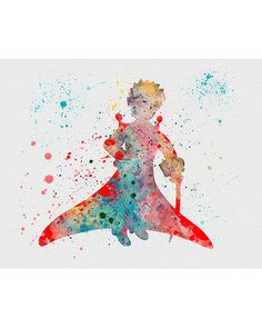 The Little Prince Watercolor Art
