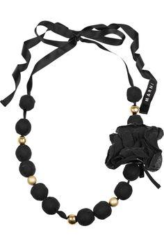 Marni rosette-embellished beaded necklace.