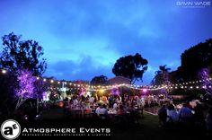 Outdoor wedding lighting