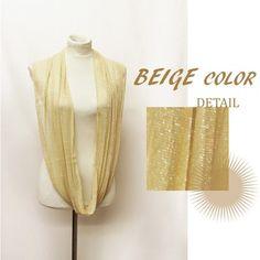 New Spring Style Infinity Scarf Shiny Lace Elegant « Clothing Impulse