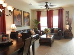 Tuscan Colors for Living Room | by Tuscan's warm colors and easy living. I designed our living room ...