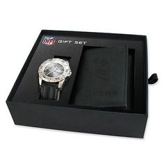 84586d43e Baltimore Ravens Wallet Watches Set Leather Mens NFL Football Eagles  Steelers