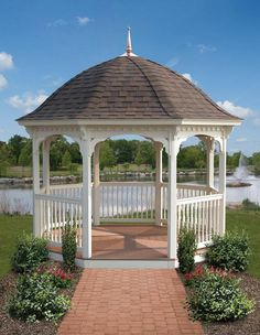 A bell roof is an elegant addition to a gazebo.