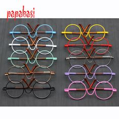 Cheap dolls accessories, Buy Quality for bjd directly from China doll sunglasses Suppliers: Doll Accessories round-shaped Round glasses colorful glasses sunglasses suitable for BJD blythe doll as for American girl dolls