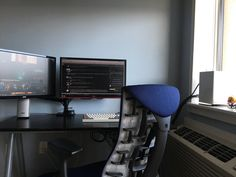 Double-monitor work/gaming desk