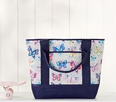 Mackenzie Gray Rainbow Butterfly After School Tote Bag #pbkids