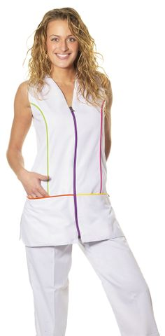 € 28,00 - Casaca sin Mangas Vivos Sarga - JT/BA4700 Sewing Pockets, Maid Uniform, Scrub Tops, New Outfits, Scrubs, Apron, Jumpsuit, Rompers, Blazer