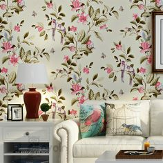 35.00$  Buy now - http://ali6t1.shopchina.info/go.php?t=32781684683 - Chinese Tradition Vintage Birds And Flowers Design papel de parede home gorgeous decor Floral Wallpaper Wall Coverings  #magazineonline