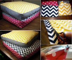 DIY Giant Floor Pillows   Home <3   Pinterest   Giant floor pillows ...