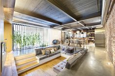 Modern Home Design Idea With Industrial Style and Nature Element