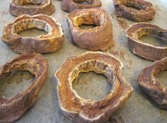 Dried sweet potatoes to make your own treat rope!