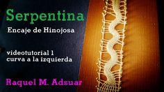 Punto Serpentina Videotutorial1: Curva a la Izquierda Encaje de Hinojosa... Serpentina, Bobbin Lace Patterns, Lace Heart, Lace Jewelry, Needle Lace, Lace Making, Lace Detail, Tatting, Stitch