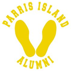 Parris Island Alumni Yellow Footprints Matte Indoor/Outdoor Vinyl Decal Purchase this product along with all of our other spectacular decals through one of the following links:   https://www.etsy.com/shop/MiaBellaDesignsWI  http://www.amazon.com/s?marketplaceID=ATVPDKIKX0DER&me=A2MSEOIVL689S1&merchant=A2MSEOIVL689S1&redirect=true