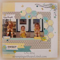 #papercraft #scrapbook #layout.  Scramping with Carol