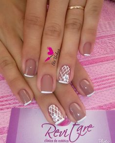 Manicure and pedicure ideas simple 15 ideas French Manicure Nails, French Nails, Manicure And Pedicure, Pedicure Ideas, Gel Nail Art, Nail Polish Art, Acrylic Nails, Classy Nails, Simple Nails