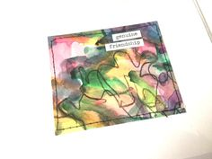 OOAK Watercolor Blank Greeting Card Stationery by HeidiKindFinds