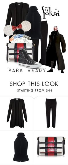 """""""Yokai: Park Ready"""" by laniocracy on Polyvore featuring Villain, Monsoon, Oasis, C/MEO COLLECTIVE, Marni, Converse and disneyland"""