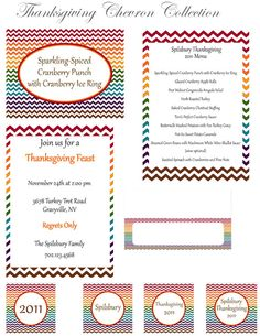 The entire Thanksgiving Chevron Collection suite by BellaGrey Designs