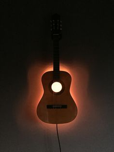 3/4 guitar LED wall lamp #lamp #guitar