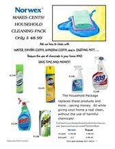 Take a look at this and then contact me .. Let me help you save MONEY and reduce the chemicals in your home.  Norwex has a 60 day money back guarantee.. What do you have to lose?