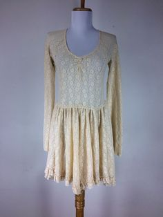 Free People Intimately Dress Semi Sheer Floral Ruffles Fit And Flair Size Small #FreePeople #Casual