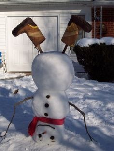 Upside down snowman!! Too cute