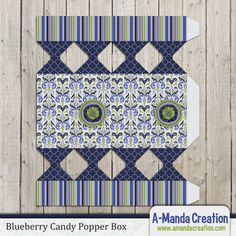 "Blueberry Party Printables from #AmandaCreation. Throw a ""Berry Sweet"" celebration with this fun themed blueberry printable candy popper box"
