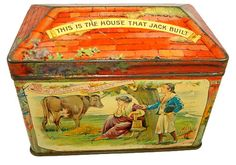 Rare House That Jack Built Biscuit Tin circa 1895