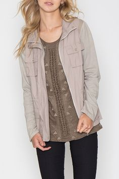 """Hello GORGEOUS!! """"Look"""" at this Taupe Utility Jacket we just got in stock! FREE SHIPPING!! Order while supplies last at http://wildtyboutique.com/products/taupe-utility-jacket?utm_campaign=social_autopilot&utm_source=pin&utm_medium=pin"""