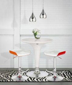This mid-century modern mini pendant light sports a bold chrome finish and an ultra-modern, sleek design. Style # at Lamps Plus. Powder Room Lighting, Mid Century Modern Lighting, Mid-century Modern, Contemporary, Kitchen Island Lighting, Mini Pendant Lights, Breakfast Nook, Chrome Finish, Glass Shades