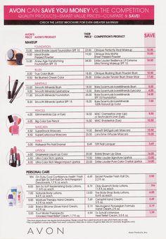 Прайс лист косметики avon интернет магазин где купить тайскую косметику