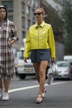 A pop of sulphite yellow makes at statement on the streets a... | WGSN | Bloglovin'