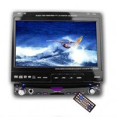 """Kjøp 7"""" DVD spiller Bil - GDX.no - CD/DVD Spillere - Regionsfri 1 DIN DVD spiller med 7"""" berøringsskjerm. Bluetoothfunksjon og minnekortleser, samt analog TV inngang."""